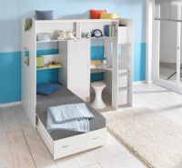 High Sleeper Loft Cabin bed colour options ideal childrens safe  bed with futon wardrobe and desk  Rutland